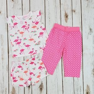 Baby Girl Summer Pajamas, Size 12 Months